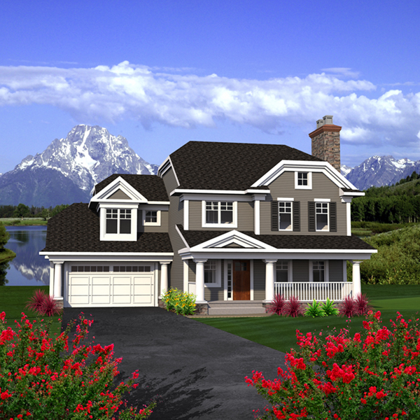 Howe two story country home plan 051d 0791 house plans for Custom country home plans
