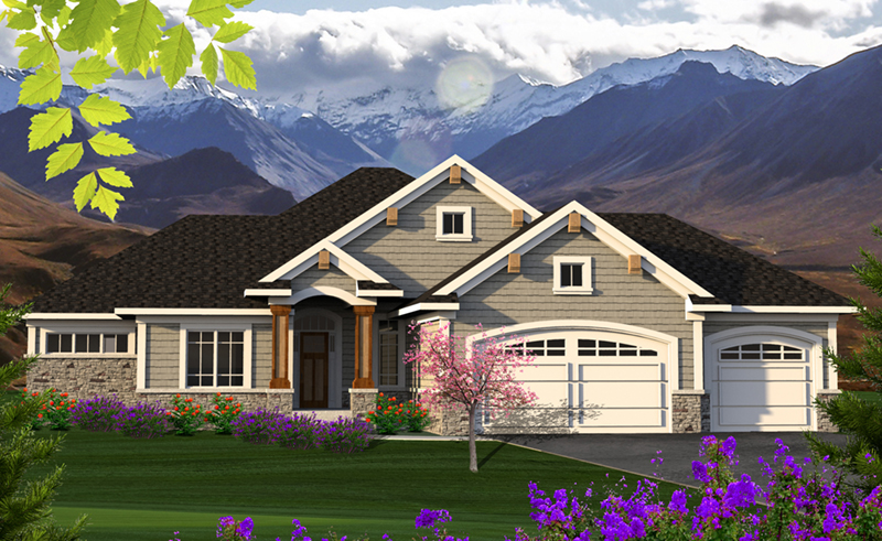 Shingle House Plan Front Of Home   051D 0800 | House Plans And More