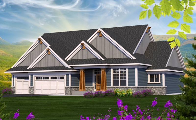 Country House Plan Front of Home - Clover Hill Craftsman Home 051D-0807 | House Plans and More