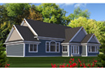 Country House Plan Rear Photo 01 - Clover Hill Craftsman Home 051D-0807 | House Plans and More