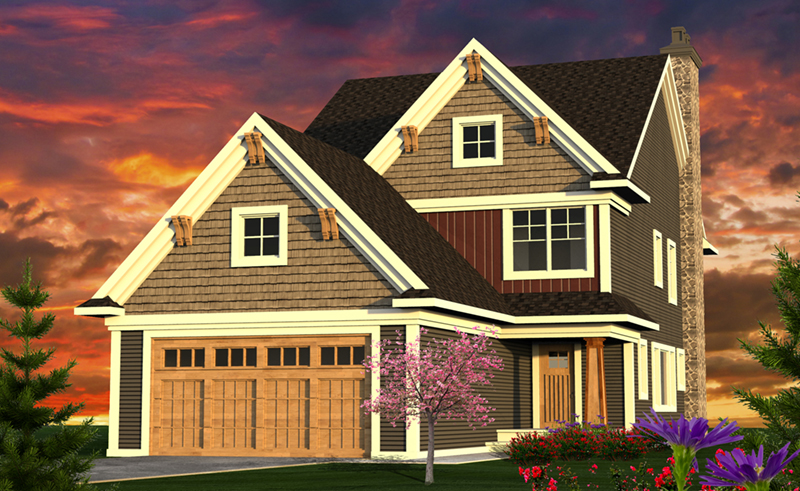 Farmhouse Plan Front of Home - 051D-0812 | House Plans and More