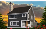 Farmhouse Plan Rear Photo 01 - 051D-0812 | House Plans and More