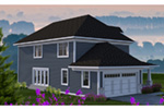 Victorian House Plan Rear Photo 01 - 051D-0813 | House Plans and More