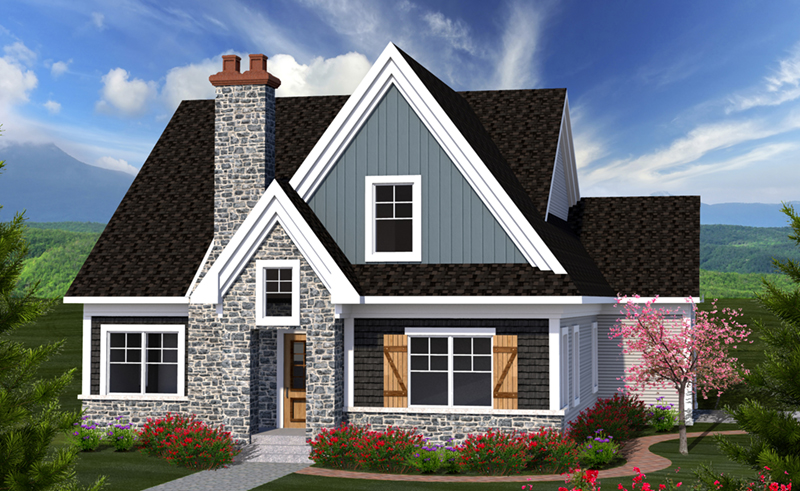 English Cottage House Plan Front of Home - 051D-0819 | House Plans and More