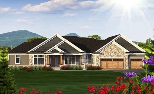 Benbow lake craftsman home plan 051d 0823 house plans for Craftsman house plans with mother in law suite