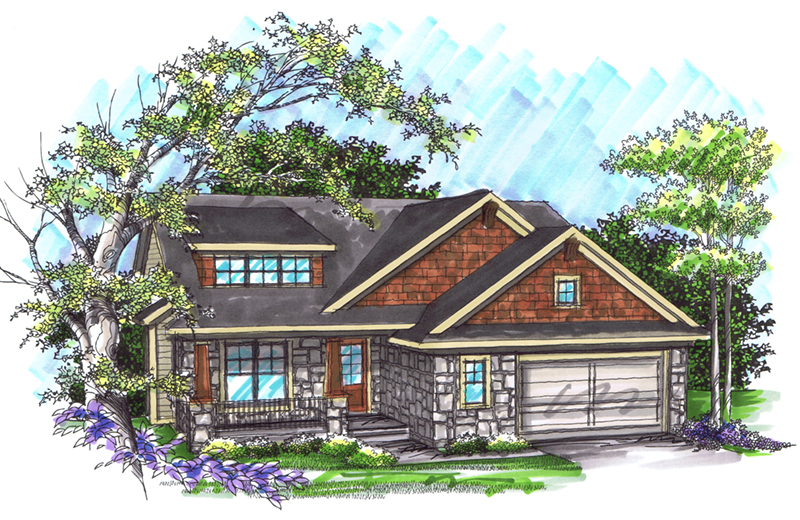 Craftsman House Plan Front of Home - 051D-0908 | House Plans and More