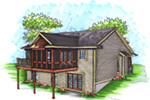 Craftsman House Plan Rear Photo 01 - 051D-0908 | House Plans and More