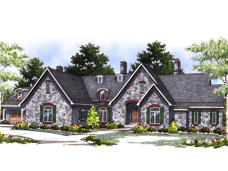 Country French Home Plan Front Image 051S-0001