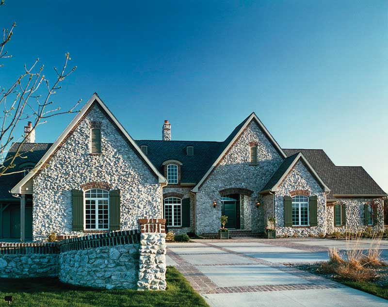 Country French House Plan Front of Home 051S-0001