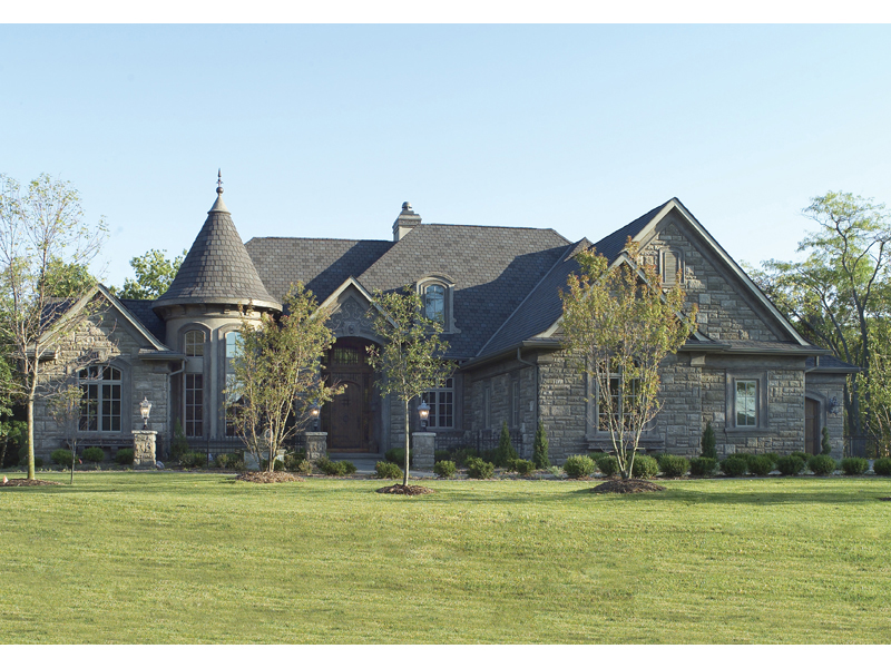 Ranch House Plan Front of Home 051S-0007