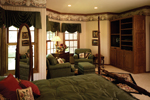 European House Plan Master Bedroom Photo 01 - 051S-0010 | House Plans and More