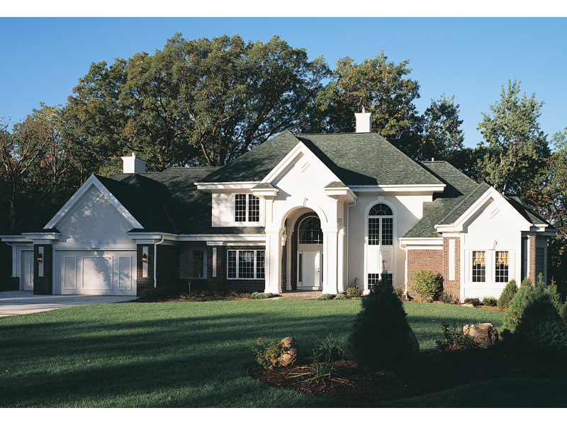 European House Plan Front of Home 051S-0018