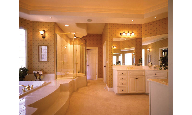 European House Plan Master Bathroom Photo 01 - 051S-0018 | House Plans and More