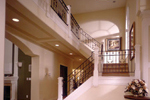 European House Plan Stairs Photo - 051S-0018 | House Plans and More