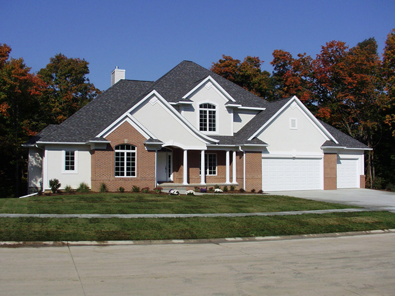 Neoclassical Home Plan Front of Home 051S-0021