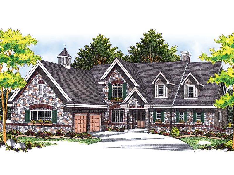 European House Plan Front of Home - 051S-0025 | House Plans and More