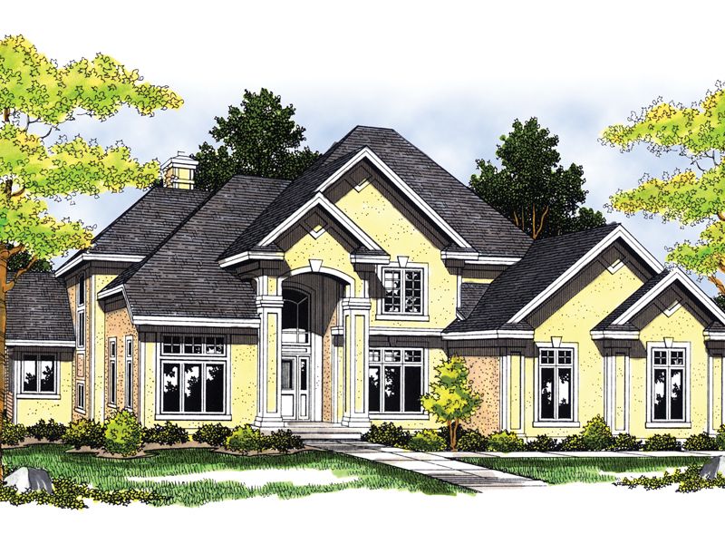 Southern House Plan Front of Home - 051S-0030 | House Plans and More
