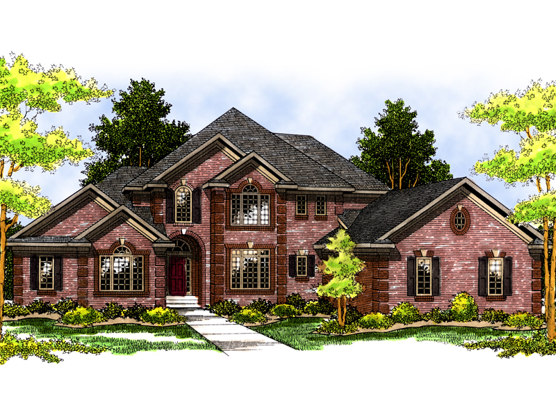 Luxury House Plan Front Image - 051S-0031 | House Plans and More
