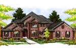 English Tudor House Plan Front Image - 051S-0031 | House Plans and More