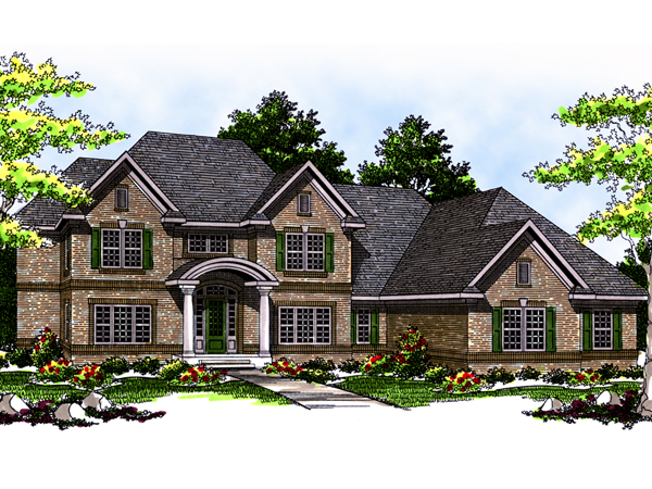 Otterburn luxury home plan 051s 0034 house plans and more for Luxury brick house plans