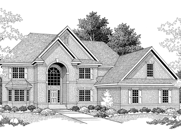 Harfleur traditional luxury home plan 051s 0040 house for Two story house drawing