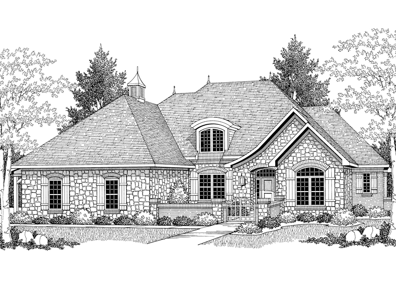 Luxury House Plan Front of Home - 051S-0050 | House Plans and More