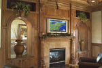 European House Plan Fireplace Photo 01 - 051S-0053 | House Plans and More