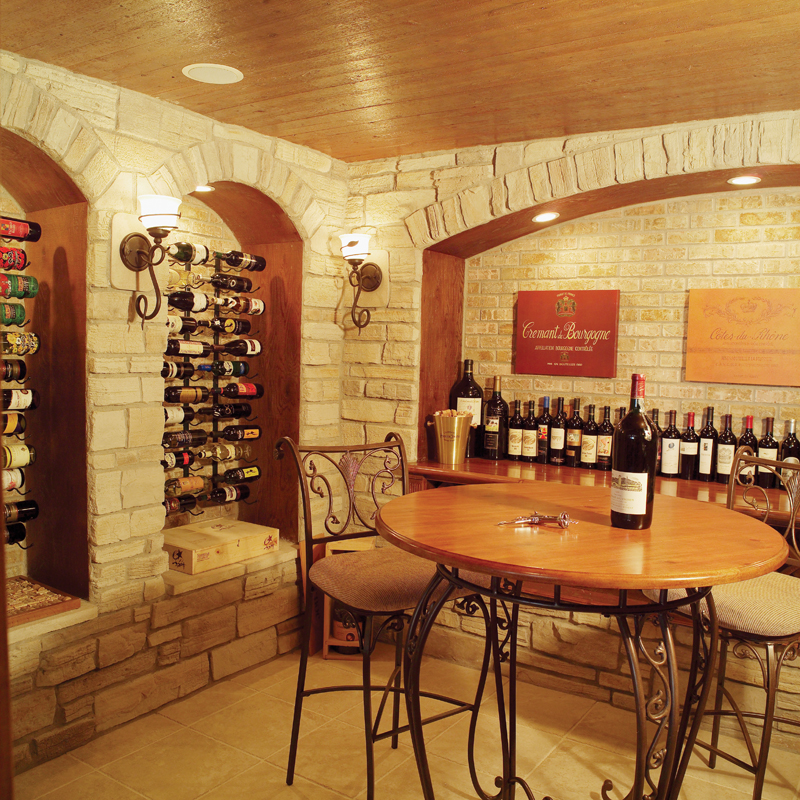 Ranch House Plan Wine Cellar Photo - 051S-0053 | House Plans and More
