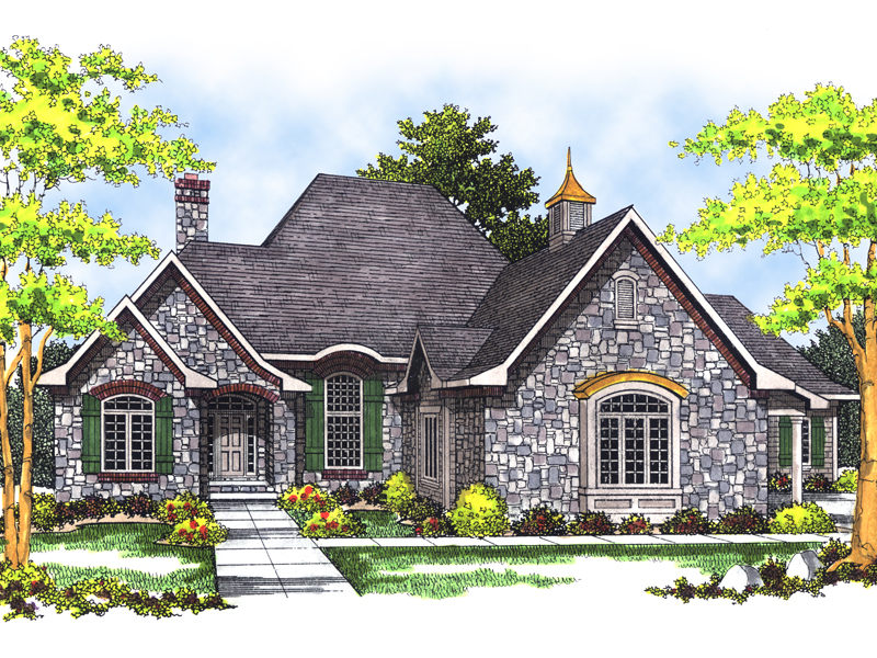 Goldwood country french home plan 051s 0057 house plans for French country ranch home plans