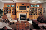 European House Plan Family Room Photo 01 - 051S-0060 | House Plans and More