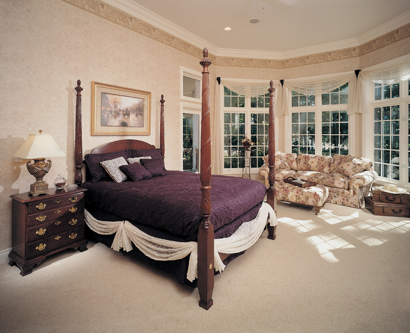 European House Plan Master Bedroom Photo 01 051S-0060