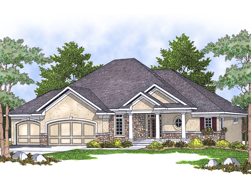 Luxury House Plan Front of Home - 051S-0067 | House Plans and More