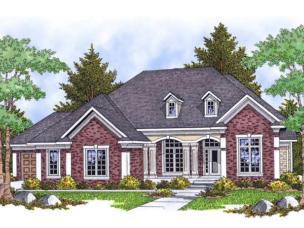 Rafferty Luxury Ranch Home Plan 051s 0068 House Plans