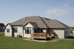 Ranch House Plan Rear Photo 01 - 051S-0076 | House Plans and More