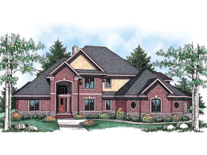 Traditional Style Luxury Two-Story House