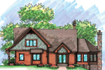Rustic Craftsman Home With Shingle Siding