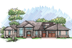 Craftsman And Contemporary Styles Combine With This Home