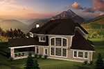 Italian House Plan Rear Photo 01 - 051S-0096 | House Plans and More