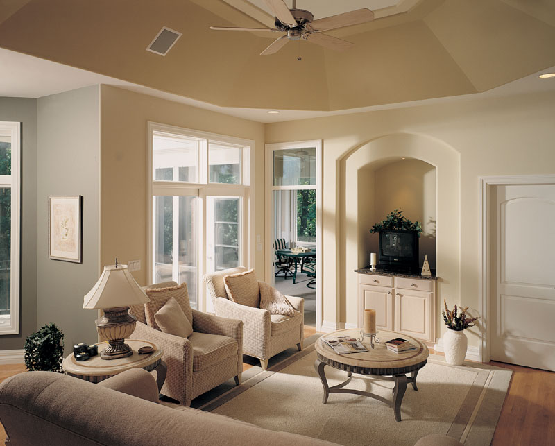 Spanish House Plan Living Room Photo 01 - Talia Stucco Luxury Home 051S-0103 | House Plans and More