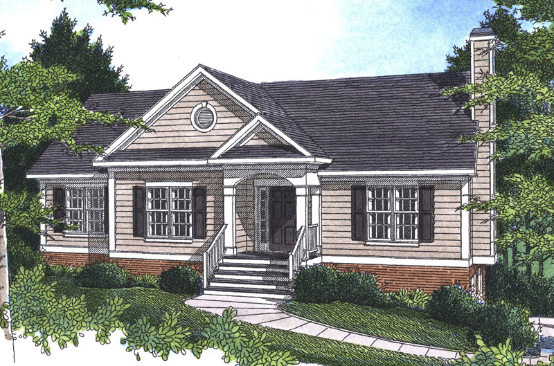 Ranch plans one story ranch house plans on 4 bedroom ranch for Raised home designs