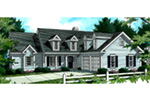 Cape Cod & New England House Plan Front Image - 052D-0026 | House Plans and More