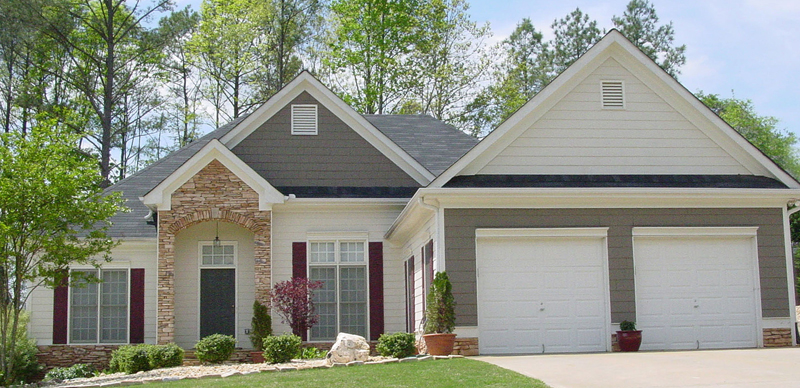 Shingle House Plan Front of Home 052D-0046