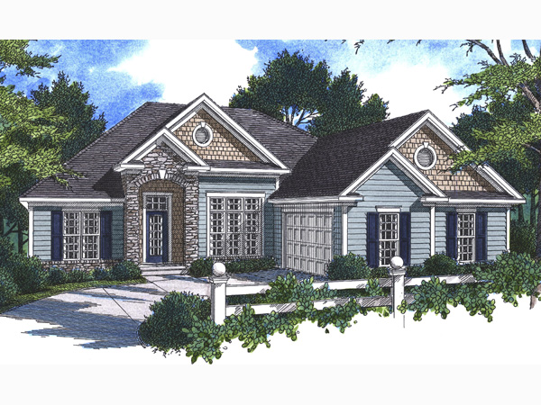 Ranch House Plan Front Photo 02 - 052D-0046 | House Plans and More