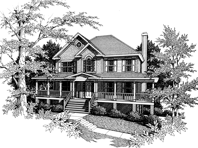 Lowcountry Home Plan Front Image of House - 052D-0055 | House Plans and More