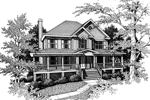 Farmhouse Plan Front Image of House - 052D-0055 | House Plans and More
