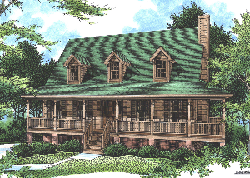Falais Rustic Country Home Plan 052D-0057  House Plans and More