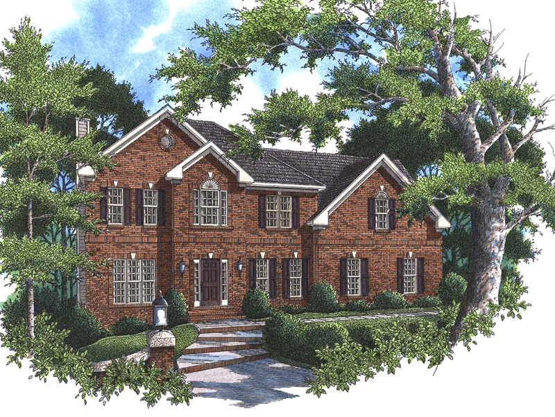 Traditional House Plan Front Image - 052D-0072 | House Plans and More