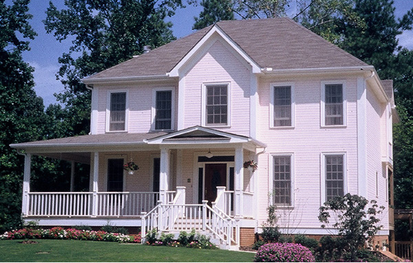 Farmhouse Style Home With Country Style Porch