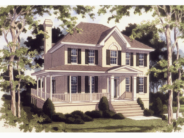 Traditional House Plan Front Photo 02 052D-0075