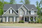 Shingle House Plan Front Photo 01 - 052D-0078 | House Plans and More
